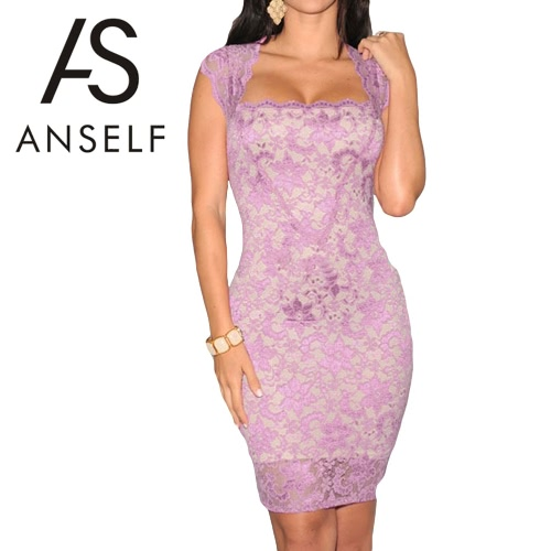 New Sexy Women Mini Dress Lace Nude Illusion Sleeveless Clubwear Bodycon Dress Black/Blue/Red/PurpleApparel &amp; Jewelry<br>New Sexy Women Mini Dress Lace Nude Illusion Sleeveless Clubwear Bodycon Dress Black/Blue/Red/Purple<br>