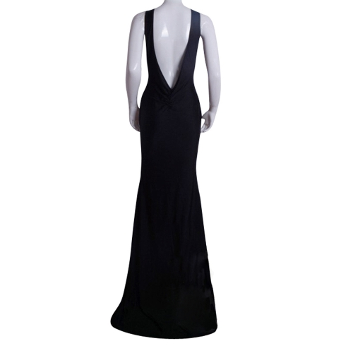 Sexy Women Maxi Dress Bare Back Asymmetric Hem Crew Neck Sleeveless Prom Evening Party Gown Black/White/RedApparel &amp; Jewelry<br>Sexy Women Maxi Dress Bare Back Asymmetric Hem Crew Neck Sleeveless Prom Evening Party Gown Black/White/Red<br>