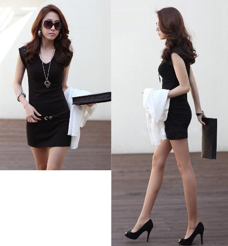 Korean Fashion Women Mini Dress Sleeveless Lace Splicing Clubwear Bodycon Vest Dress Black/WhiteApparel &amp; Jewelry<br>Korean Fashion Women Mini Dress Sleeveless Lace Splicing Clubwear Bodycon Vest Dress Black/White<br>