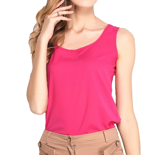 New Fashion Women Tank Top Chiffon Candy Color Crew Neck Sleeveless Casual Vest Blouse TopsApparel &amp; Jewelry<br>New Fashion Women Tank Top Chiffon Candy Color Crew Neck Sleeveless Casual Vest Blouse Tops<br>