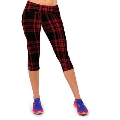 Fashion Women Lady Cropped Trousers Vintage Print Elastic Waist Gym Wear Yoga Capri PantsApparel &amp; Jewelry<br>Fashion Women Lady Cropped Trousers Vintage Print Elastic Waist Gym Wear Yoga Capri Pants<br>