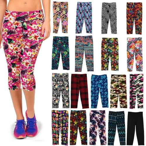 Vintage Print Womens Gym Yoga Capri PantsApparel &amp; Jewelry<br>Vintage Print Womens Gym Yoga Capri Pants<br>