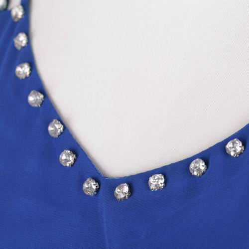 New Fashion Women Chiffon Dress Beading V Neck Sleeveless Pleated Party Cocktail Mini Dress BlueApparel &amp; Jewelry<br>New Fashion Women Chiffon Dress Beading V Neck Sleeveless Pleated Party Cocktail Mini Dress Blue<br>