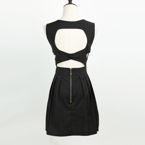 New Sexy Women Mini Dress Backless Cut Out V Neck Sleeveless Party Cocktail Evening Dress Black/White/BlueApparel &amp; Jewelry<br>New Sexy Women Mini Dress Backless Cut Out V Neck Sleeveless Party Cocktail Evening Dress Black/White/Blue<br>