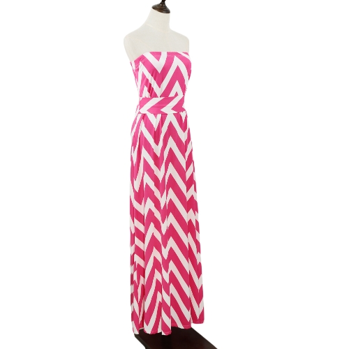 Sexy Women Tube Dress Striped Sleeveless Evening Party Prom Gown Cocktail Maxi Dress Pink/BlueApparel &amp; Jewelry<br>Sexy Women Tube Dress Striped Sleeveless Evening Party Prom Gown Cocktail Maxi Dress Pink/Blue<br>