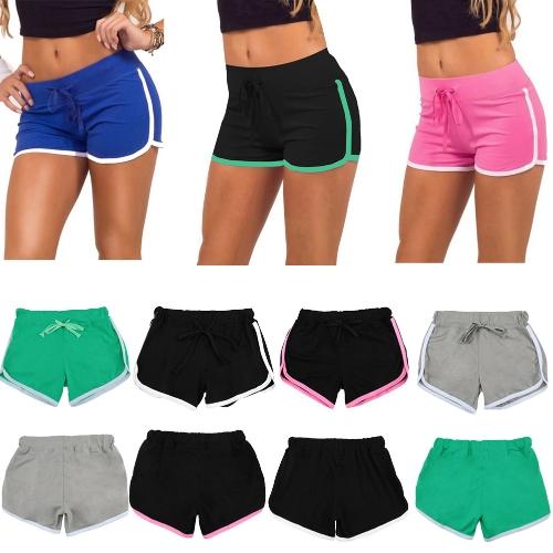 Fashion Women Sports Shorts Contrast Binding Elastic Waist Yoga ShortsApparel &amp; Jewelry<br>Fashion Women Sports Shorts Contrast Binding Elastic Waist Yoga Shorts<br>