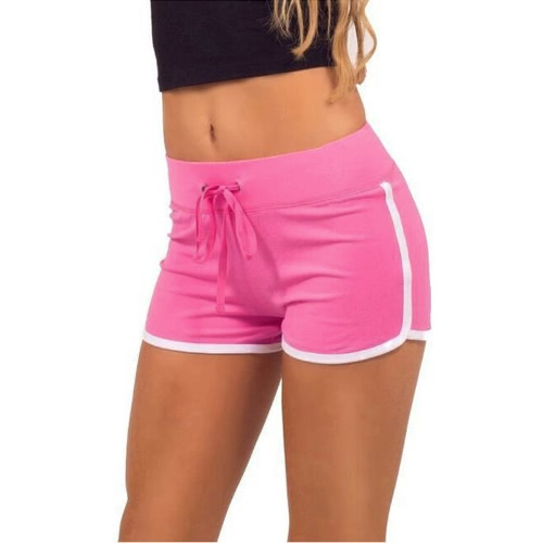 Fashion Women Sports Shorts Contrast Binding Side Split Elastic Waist Yoga ShortsApparel &amp; Jewelry<br>Fashion Women Sports Shorts Contrast Binding Side Split Elastic Waist Yoga Shorts<br>