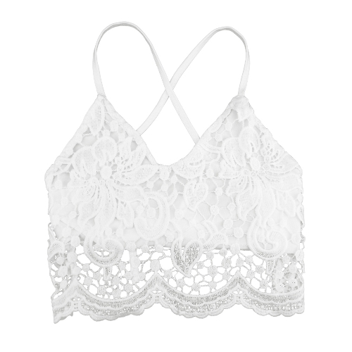 New Sexy Women Crop Top Crochet Lace Deep V Neck Spaghetti Strap Backless Tank Camisole Bralette Black/WhiteApparel &amp; Jewelry<br>New Sexy Women Crop Top Crochet Lace Deep V Neck Spaghetti Strap Backless Tank Camisole Bralette Black/White<br>