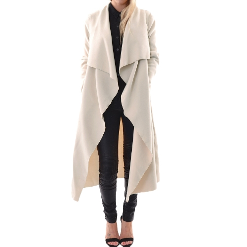 Fashion Women Outerwear Drape Waterfall Open Front Long Length Cardigan CoatApparel &amp; Jewelry<br>Fashion Women Outerwear Drape Waterfall Open Front Long Length Cardigan Coat<br>