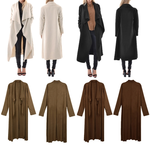 Fashion Women Outerwear Drape Waterfall Open Front Long Length Cardigan CoatApparel &amp; Jewelry<br>Fashion Women Outerwear Drape Waterfall Open Front Long Length Cardigan Coat<br>