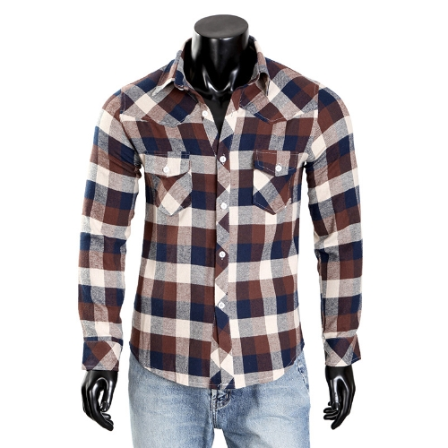 Mens Check Dress Shirt PlaidApparel &amp; Jewelry<br>Mens Check Dress Shirt Plaid<br>