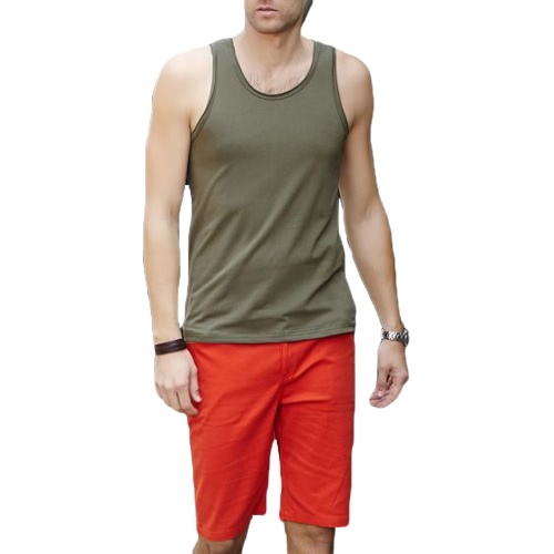 Fashion Men Tank Tops Crew Neck Sleeveless Sports Causal Vests Army GreenApparel &amp; Jewelry<br>Fashion Men Tank Tops Crew Neck Sleeveless Sports Causal Vests Army Green<br>
