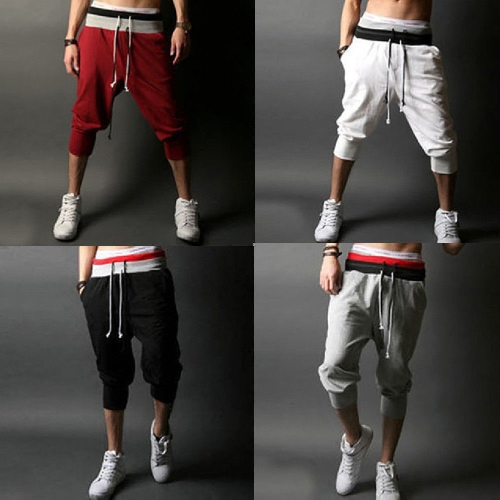 Europe Fashion Men Pants Loose Casual Sport Trousers Tie Belt Splicing Fitted Cuffs SweatpantsApparel &amp; Jewelry<br>Europe Fashion Men Pants Loose Casual Sport Trousers Tie Belt Splicing Fitted Cuffs Sweatpants<br>