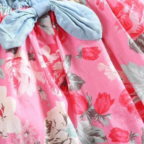 Fashion Kids Girls Dress Jean Denim Sleeveless Top Bow Flower Ruffled Cute Princess Sundress Red/WhiteApparel &amp; Jewelry<br>Fashion Kids Girls Dress Jean Denim Sleeveless Top Bow Flower Ruffled Cute Princess Sundress Red/White<br>