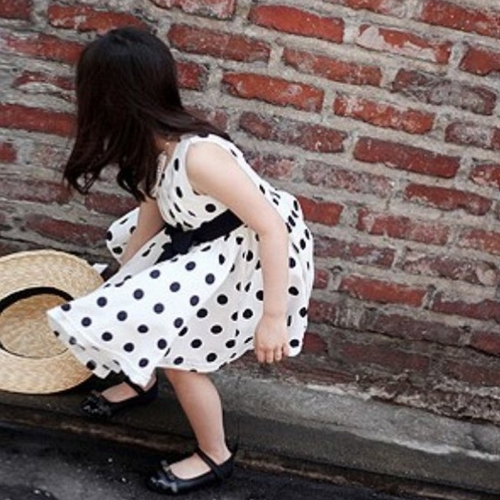 New Fashion Kids Girls Dress Polka Dot Print Back Zipper Crew Neck Sleeveless Tie Waist Princess Dress Dark Blue/WhiteApparel &amp; Jewelry<br>New Fashion Kids Girls Dress Polka Dot Print Back Zipper Crew Neck Sleeveless Tie Waist Princess Dress Dark Blue/White<br>