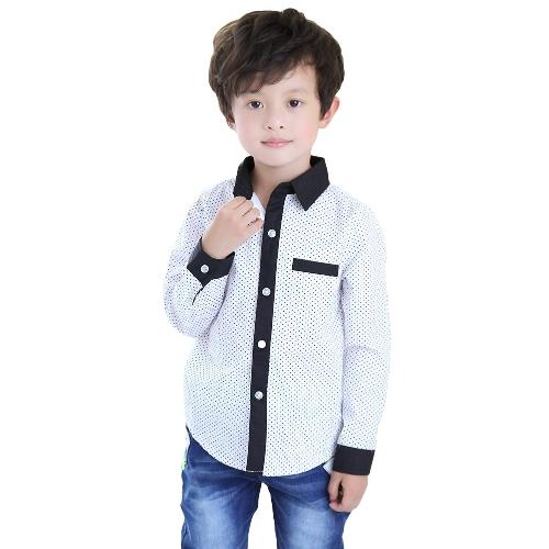 New Fashion Kids Boys Shirt Polka Dot Turn-Down Collar Long Sleeve Casual Blouse TopApparel &amp; Jewelry<br>New Fashion Kids Boys Shirt Polka Dot Turn-Down Collar Long Sleeve Casual Blouse Top<br>