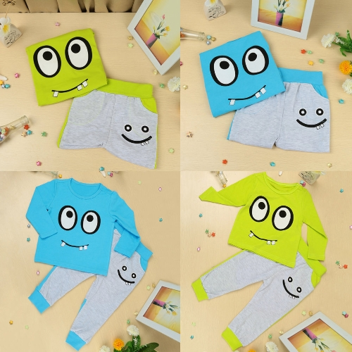 New Fashion Boys Girls Unisex Clothing Sets T-shirt Pants Big Eyes Small Tooth Smile Print Cute SuitApparel &amp; Jewelry<br>New Fashion Boys Girls Unisex Clothing Sets T-shirt Pants Big Eyes Small Tooth Smile Print Cute Suit<br>