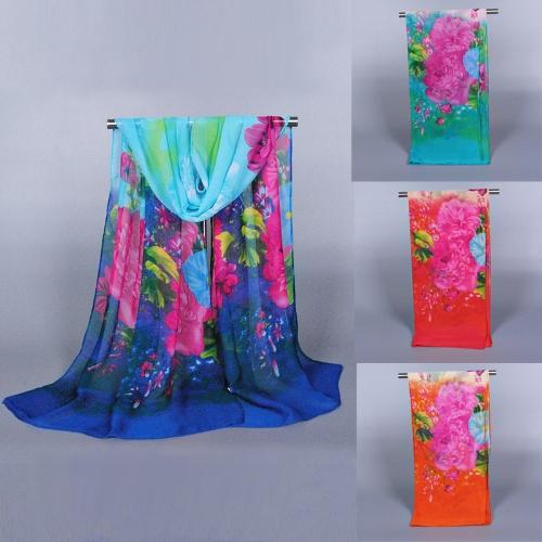 Fashion Women Chiffon Scarf Floral Print Long Thin Shawl PashminaApparel &amp; Jewelry<br>Fashion Women Chiffon Scarf Floral Print Long Thin Shawl Pashmina<br>