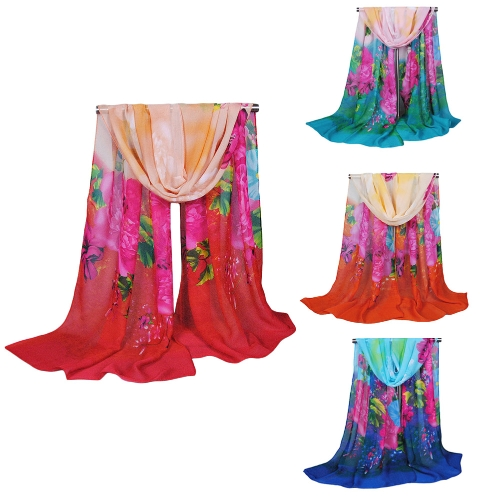 Fashion Women Chiffon Scarf Floral Print Long Thin Shawl PashminaApparel &amp; Jewelry<br>Fashion Women Chiffon Scarf Floral Print Long Thin Shawl Pashmina<br>