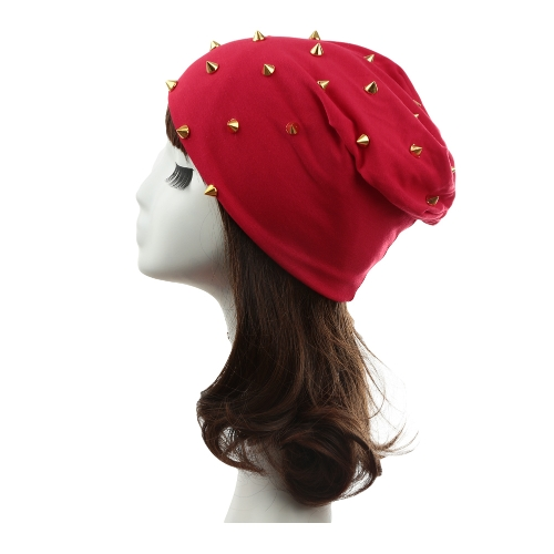 New Fashion Unisex Men Women Beanie Rivet Decoration Solid Design Hip-Hop Slouch Headwear HatApparel &amp; Jewelry<br>New Fashion Unisex Men Women Beanie Rivet Decoration Solid Design Hip-Hop Slouch Headwear Hat<br>