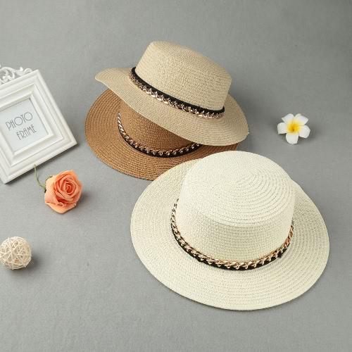 New Fashion Women Sun Hat Straw Hat Solid Wide Brim Summer Sunbonnet Beach Panama HatApparel &amp; Jewelry<br>New Fashion Women Sun Hat Straw Hat Solid Wide Brim Summer Sunbonnet Beach Panama Hat<br>