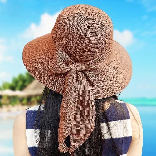 New Sweet Women Straw Hat Bowknot Foldable Casual Summer Sun Beach Cap Beige/Light CoffeeApparel &amp; Jewelry<br>New Sweet Women Straw Hat Bowknot Foldable Casual Summer Sun Beach Cap Beige/Light Coffee<br>