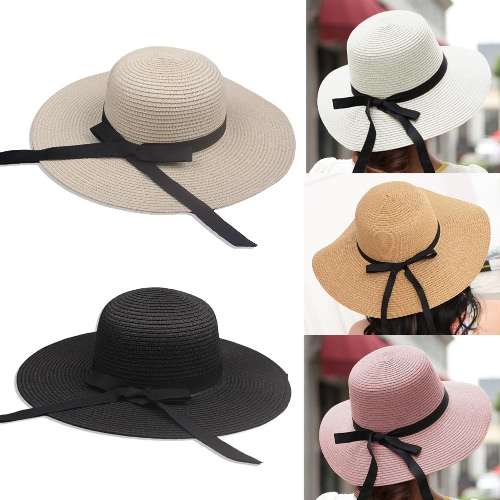 New Elegant Women Straw Sun Hat Bowknot Wide Large Brim Foldable Casual Summer Holiday CapApparel &amp; Jewelry<br>New Elegant Women Straw Sun Hat Bowknot Wide Large Brim Foldable Casual Summer Holiday Cap<br>