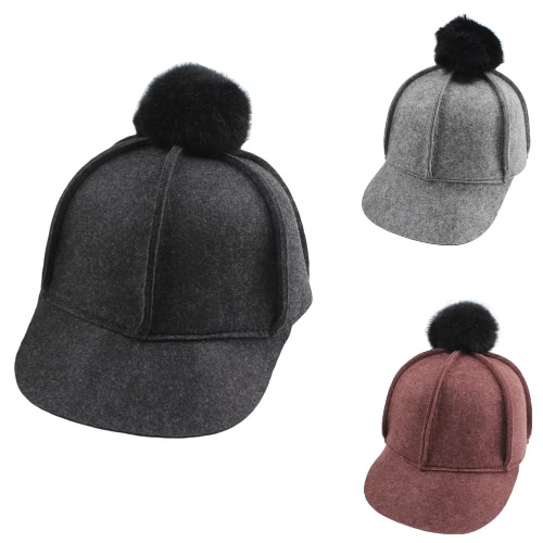 New Winter Unisex Wool Solid Cap Bobbles Casual Man Woman Baseball Flat HatApparel &amp; Jewelry<br>New Winter Unisex Wool Solid Cap Bobbles Casual Man Woman Baseball Flat Hat<br>
