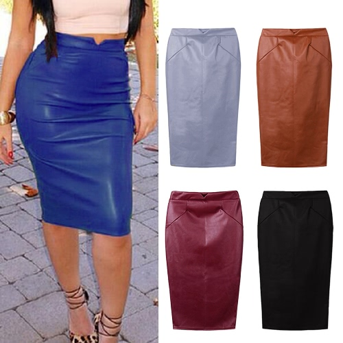 Europe Sexy Women Skirt PU Leather Solid Color Midi Pencil Skirts OL Casual Slim ClubwearApparel &amp; Jewelry<br>Europe Sexy Women Skirt PU Leather Solid Color Midi Pencil Skirts OL Casual Slim Clubwear<br>