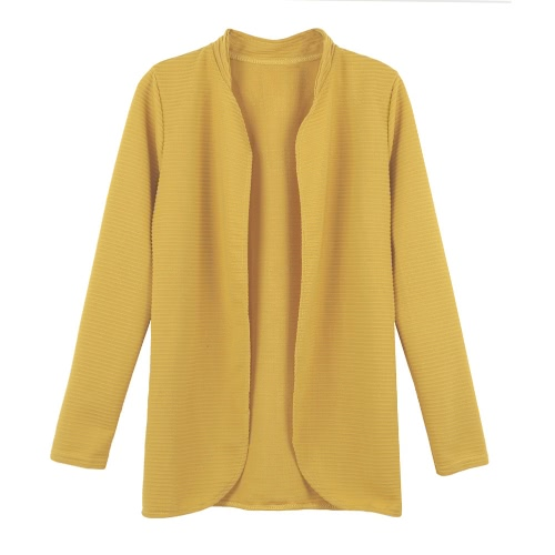 Women Open Front Striped Long Sleeve Cardigan OL Overcoat Blazer Jacket Coat Black/Rose/YellowApparel &amp; Jewelry<br>Women Open Front Striped Long Sleeve Cardigan OL Overcoat Blazer Jacket Coat Black/Rose/Yellow<br>