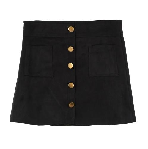 Trendy Women Faux Suede High Waist Skirt Shorts Lining Slim CulottesApparel &amp; Jewelry<br>Trendy Women Faux Suede High Waist Skirt Shorts Lining Slim Culottes<br>