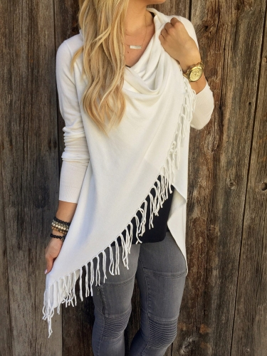 New Fashion Women Knitted Cardigan Sweater Tassel Cross Long Sleeve Coat Top Outwear White/GrayApparel &amp; Jewelry<br>New Fashion Women Knitted Cardigan Sweater Tassel Cross Long Sleeve Coat Top Outwear White/Gray<br>