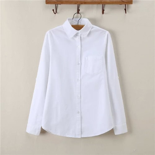 New Fashion Women Shirt Solid Point Collar Long Sleeve Chest Pocket Casual Spring Autumn BlouseApparel &amp; Jewelry<br>New Fashion Women Shirt Solid Point Collar Long Sleeve Chest Pocket Casual Spring Autumn Blouse<br>