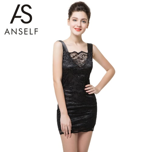 Anself Sexy Backless Spaghetti Strap Bodycon Club Black Lace Dress for WomenApparel &amp; Jewelry<br>Anself Sexy Backless Spaghetti Strap Bodycon Club Black Lace Dress for Women<br>