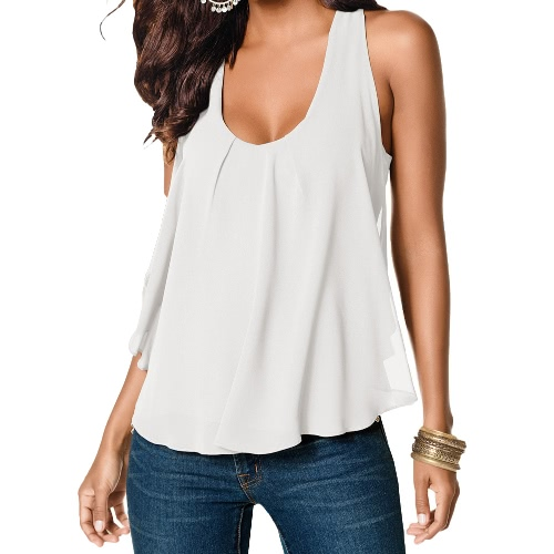 Summer Womens Racer Back Casual Chiffon Camisole VestApparel &amp; Jewelry<br>Summer Womens Racer Back Casual Chiffon Camisole Vest<br>