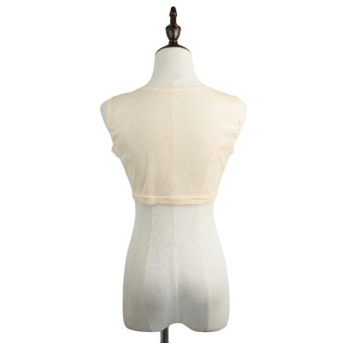 New Sexy Women Crop Top Sheer Mesh Crochet Lace Round Neck Sleeveless Tank Top BeigeApparel &amp; Jewelry<br>New Sexy Women Crop Top Sheer Mesh Crochet Lace Round Neck Sleeveless Tank Top Beige<br>
