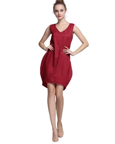 New Fashion Women Tank Mini Dress V Neck High Low Hem Loose Casual Asymmetric Shift DressApparel &amp; Jewelry<br>New Fashion Women Tank Mini Dress V Neck High Low Hem Loose Casual Asymmetric Shift Dress<br>