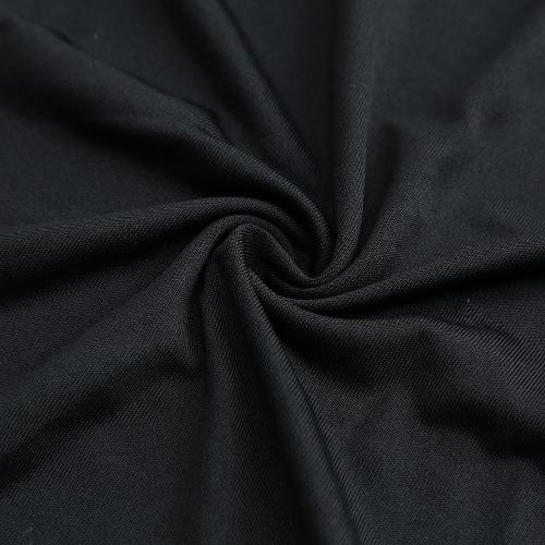 Fashion Women Dress Round Neck 3/4 Sleeve Butterfly Splice Casual Mini Dress BlackApparel &amp; Jewelry<br>Fashion Women Dress Round Neck 3/4 Sleeve Butterfly Splice Casual Mini Dress Black<br>