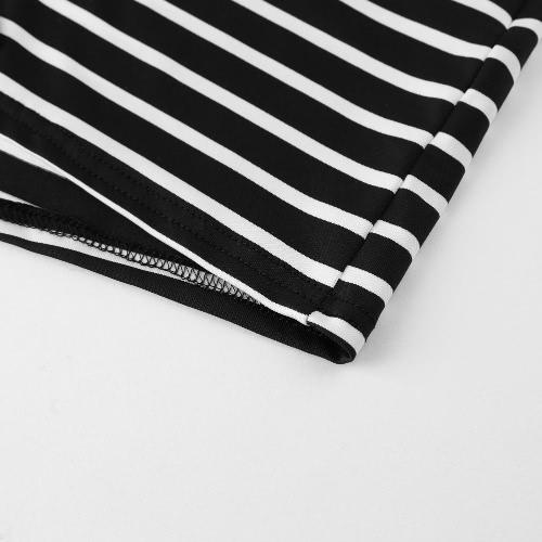 Women Shorts Summer Striped Shorts High Elastic Waist Ladies Casual Pants Black/WhiteApparel &amp; Jewelry<br>Women Shorts Summer Striped Shorts High Elastic Waist Ladies Casual Pants Black/White<br>
