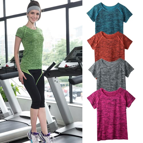 New Fashion Women T-Shirt O-Neck Short Sleeve Sport Breathable Quick Dry Gym Yoga Running T-shirt Tee Tops BlouseApparel &amp; Jewelry<br>New Fashion Women T-Shirt O-Neck Short Sleeve Sport Breathable Quick Dry Gym Yoga Running T-shirt Tee Tops Blouse<br>