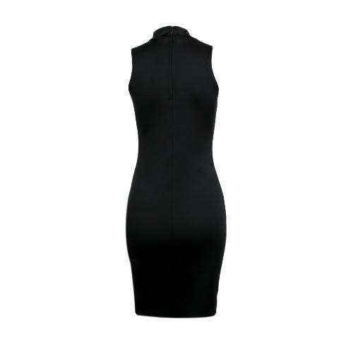 New Fashion Women Bodycon Dress Scoop Neck Sleeveless Evening Club Wear Midi DressApparel &amp; Jewelry<br>New Fashion Women Bodycon Dress Scoop Neck Sleeveless Evening Club Wear Midi Dress<br>