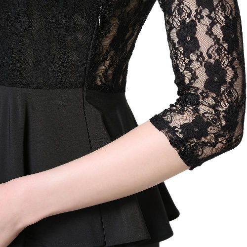 New Sexy Women Mini Dress Lace Splice Hollow Out Elegant Pleated Bodycon Cocktail Party Evening Dress BlackApparel &amp; Jewelry<br>New Sexy Women Mini Dress Lace Splice Hollow Out Elegant Pleated Bodycon Cocktail Party Evening Dress Black<br>