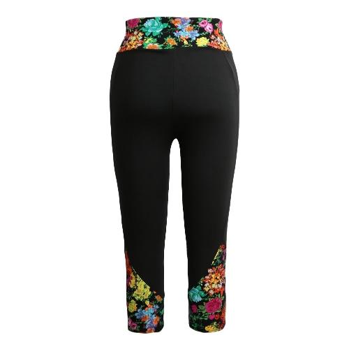 Fashion femmes Leggings imprimé modèle taille haute Fitness Sports pantalon Stretch Yoga recadrée pantalons