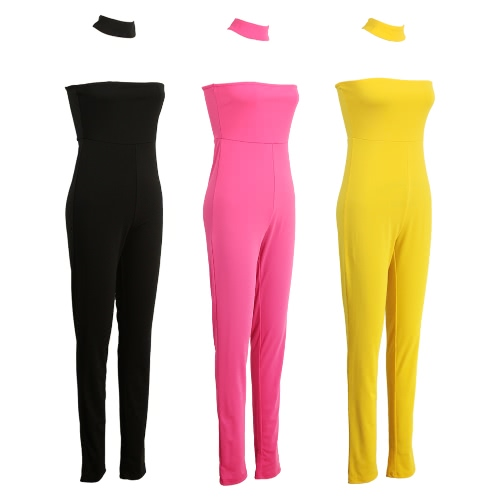 Fashion Women Jumpsuit High Choker Neck Cut Out Sleeveless Racer Zipper Back Playsuit Rompers Black/Yellow/RoseApparel &amp; Jewelry<br>Fashion Women Jumpsuit High Choker Neck Cut Out Sleeveless Racer Zipper Back Playsuit Rompers Black/Yellow/Rose<br>