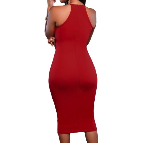 New Women Sexy Slit Dress Off-Shoulder Sleeveless Back Zipper Closure Lace Midi DressApparel &amp; Jewelry<br>New Women Sexy Slit Dress Off-Shoulder Sleeveless Back Zipper Closure Lace Midi Dress<br>