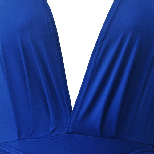 Sexy Women Midi Dress Solid Bandage Deep V-Neck Long Sleeves Bodycon Party Clubwear Pencil Dress Blue/BeigeApparel &amp; Jewelry<br>Sexy Women Midi Dress Solid Bandage Deep V-Neck Long Sleeves Bodycon Party Clubwear Pencil Dress Blue/Beige<br>