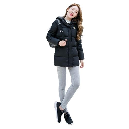 New Fashion Women Padded Coat Hooded Zipper Fastening Pockets Long Sleeve Casual Outwear Black/Light GreyApparel &amp; Jewelry<br>New Fashion Women Padded Coat Hooded Zipper Fastening Pockets Long Sleeve Casual Outwear Black/Light Grey<br>