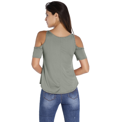 New Sexy Women Cold Shoulder Crochet Top Lace Short Sleeve V Neck Casual Ladies T-Shirt TeeApparel &amp; Jewelry<br>New Sexy Women Cold Shoulder Crochet Top Lace Short Sleeve V Neck Casual Ladies T-Shirt Tee<br>
