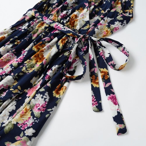 Sexy Women Slip Dress Floral Print Spaghetti Strap Deep V-neck Casual Vintage Party Dress Dark BlueApparel &amp; Jewelry<br>Sexy Women Slip Dress Floral Print Spaghetti Strap Deep V-neck Casual Vintage Party Dress Dark Blue<br>