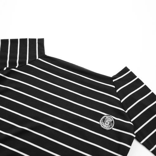 Women Striped Top Casual Long Sleeve T-Shirt Winter Spring Tee Shirt Black/WhiteApparel &amp; Jewelry<br>Women Striped Top Casual Long Sleeve T-Shirt Winter Spring Tee Shirt Black/White<br>